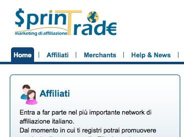 sprintrade network di affiliazione